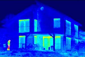Инфрачервена термография на къща с blackline прозорци